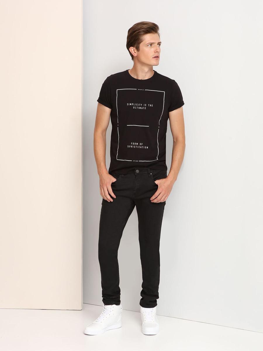 SPO2806BIМужская футболка выполнена из 100% хлопка и оформлена оригинальным принтом. Модель со стандартным коротким рукавом и круглым вырезом горловины.