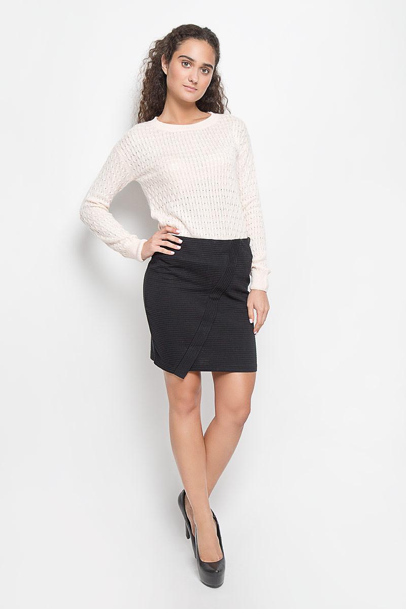 ЮбкаSKk-318/827-6332Стильная юбка Sela Casual выполнена из высококачественного материала. Юбка на талии дополнена широкой эластичной резинкой. Оформлена модель имитацией запаха. Элегантная юбка выгодно освежит и разнообразит любой гардероб. Создайте женственный образ и подчеркните свою яркую индивидуальность!