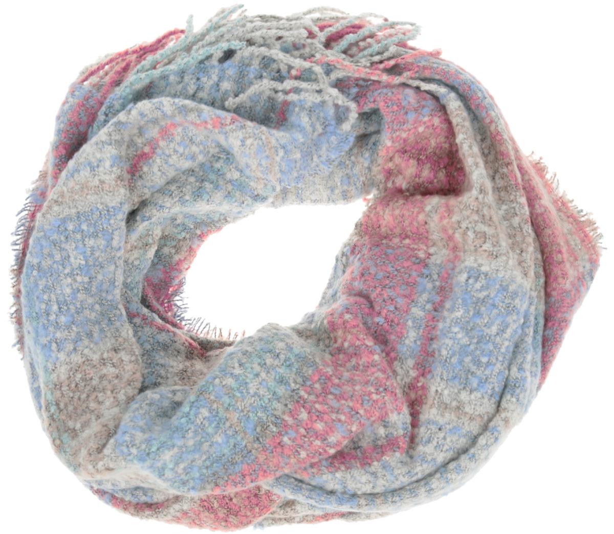 Шарф женский. SCw-142/465-6404SCw-142/465-6404Восхитительный женский вязаный шарф Sela - отличная модель для зимней погоды. Выполненный из 100% полиэстра, он прекрасно сохраняет тепло и защищает от холода. Шарф связан оригинальным узором и оформлен декоративными кисточками. Такой аксессуар достойно дополнит ваш гардероб.