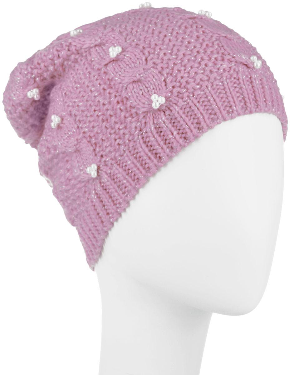 HAk-141/018-6404Стильная женская шапка Sela дополнит ваш наряд и не позволит вам замерзнуть в холодное время года. Шапка выполнена из акрила добавлением люрекса, что позволяет ей великолепно сохранять тепло и обеспечивает высокую эластичность и удобство посадки. Оформлена модель интересным вязаным узором и дополнена бусинами. Такая шапка составит идеальный комплект с модной верхней одеждой. Уважаемые клиенты! Размер, доступный для заказа, является обхватом головы.