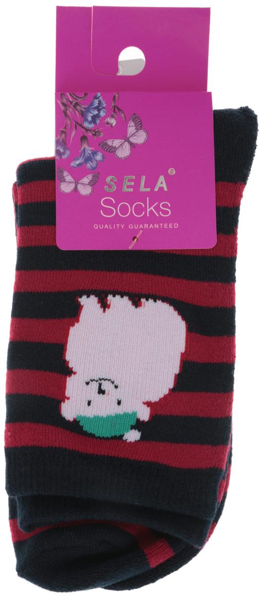 НоскиSOb-4/028-6303Детские носки Sela, изготовленные из высококачественного материала, идеально подойдут вашему ребенку. Благодаря содержанию мягкого хлопка и полиэстера в составе кожа сможет дышать, а эластан делает носочки более комфортными в носке. Оформлены носочки принтом в полоску. Эластичная резинка плотно облегает ножку ребенка, не сдавливая ее, обеспечивая комфорт и удобство.