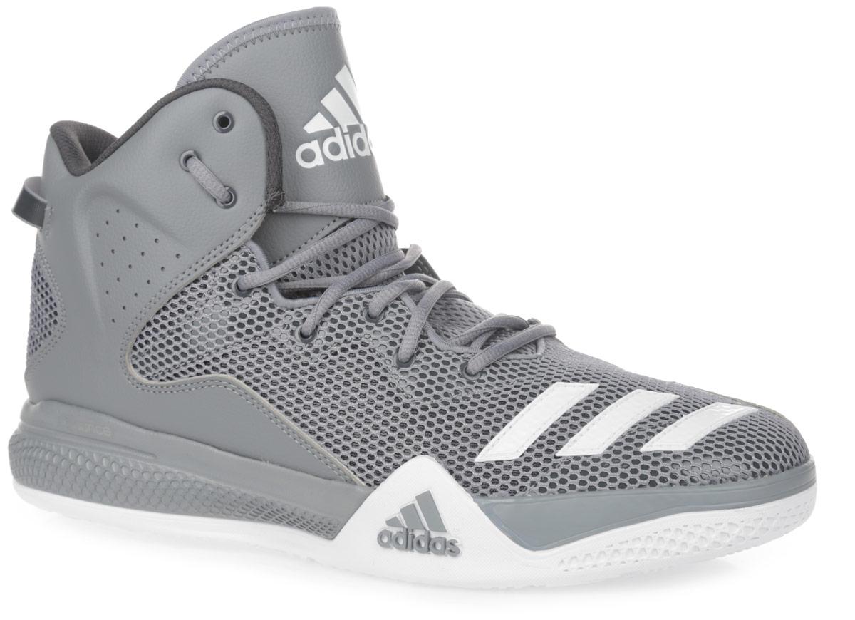 КроссовкиAQ7754Стильные высокие кроссовки DT BBall Mid от adidas Performance идеально подойдут для занятия баскетболом. Модель выполнена из сетчатого текстиля и дополнена вставками из искусственной кожи, которые обеспечивают поддержку ноги. Мыс оформлен тремя полосками из ПВХ, боковые стороны - перфорацией, язычок - нашивкой с фирменным тиснением. Классическая шнуровка надежно зафиксирует изделие на стопе. Текстильная подкладка и мягкий манжет предотвратят натирание и гарантируют уют. Стелька из материала ЭВА с текстильной поверхностью обеспечит лучшую амортизацию. Промежуточная подошва bounce предназначена для поглощения ударных нагрузок. Уплотненный задник защитит ноги от ударов. Текстильная петля на заднике облегчает надевание модели. Рельефная поверхность подошвы обеспечивает отличное сцепление с любой поверхностью. Такие кроссовки придутся вам по душе.