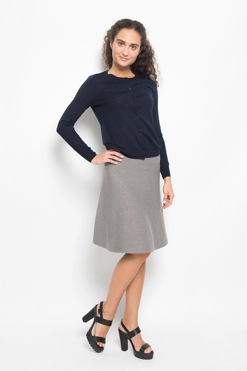 SKsw-118/857-6373Модная юбка Sela, выполненная из полиэстера, нейлона и шерсти, обеспечит вам комфорт и удобство при носке. Вязанная юбка-миди А-силуэта дополнена на поясе с внутренней стороны эластичной резинкой. Модель не имеет застежек. Модная юбка-миди выгодно освежит и разнообразит ваш гардероб. Создайте женственный образ и подчеркните свою яркую индивидуальность!