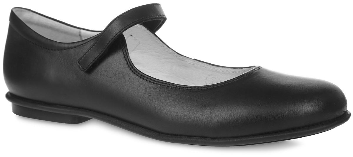 Туфли для девочки. 3/4-5193716013/4-519371601Стильные туфли от Elegami придутся по душе вашей юной моднице! Верх и подкладка модели изготовлены из натуральной кожи, что создает естественный микроклимат внутри обуви. Стелька из натуральной кожи дополнена супинатором, который обеспечивает правильное положение ноги ребенка при ходьбе, предотвращает плоскостопие. Ремешок на застежке-липучке надежно зафиксирует изделие на ноге. Удобные туфли - незаменимая вещь в коллекции каждой девочки.