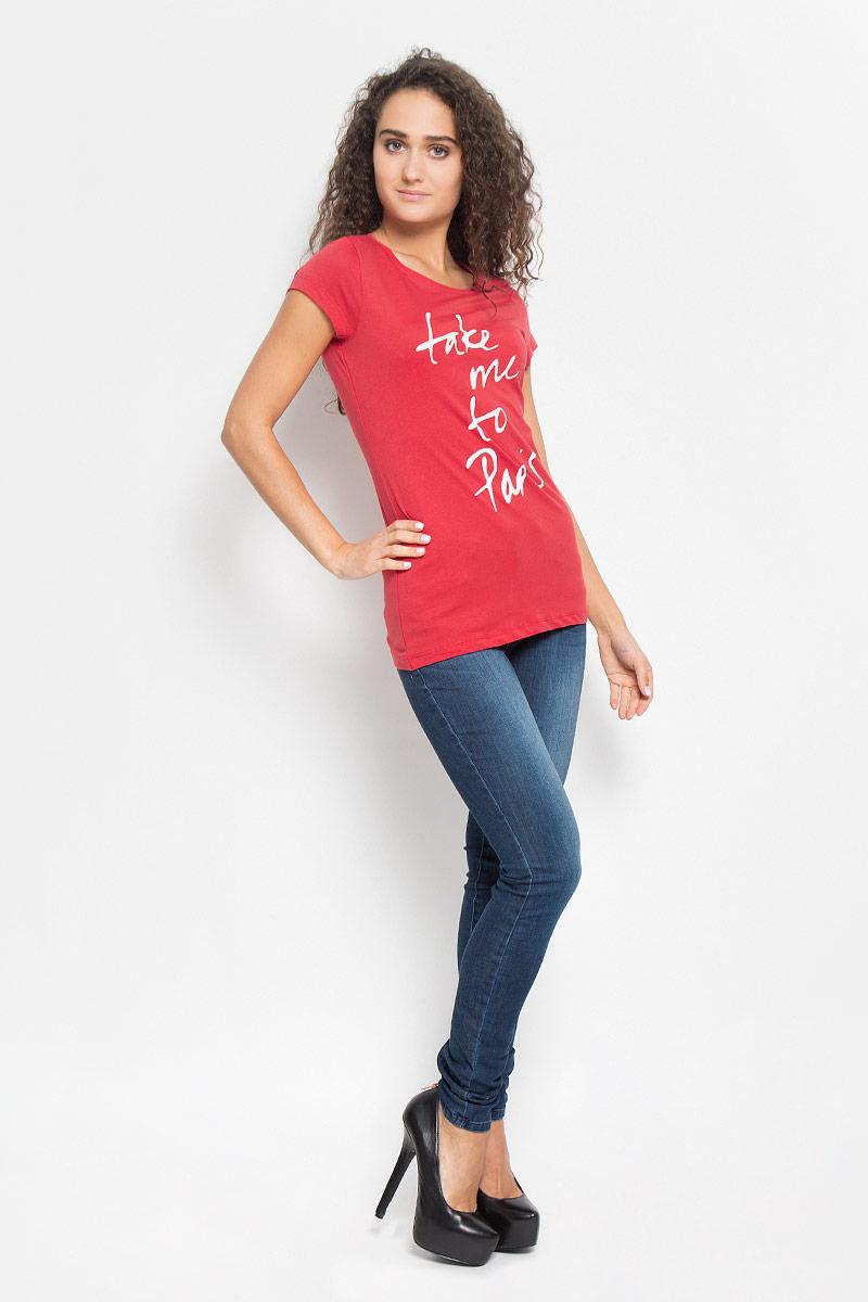 Футболка1035523.01.71_2220Стильная женская футболка Tom Tailor Denim поможет создать отличный современный образ в стиле Casual. Модель, изготовленная из высококачественного материала, очень мягкая, тактильно приятная, не сковывает движения и позволяет коже дышать. Футболка с круглым вырезом горловины и короткими рукавами оформлена спереди буквенным принтом. Такая футболка станет стильным дополнением к вашему гардеробу, она подарит вам комфорт в течение всего дня!