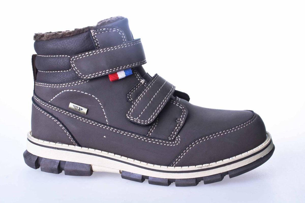 986-908IM-17w-04-2Уютные и теплые ботинки для мальчика от Patrol выполнены из искусственного нубука. Подкладка и стелька, выполненные из искусственного меха, обеспечивают отличную амортизацию и максимальный комфорт. Подошва с протектором гарантирует идеальное сцепление на любой поверхности. Ботинки на подъеме застегиваются двумя ремешками на липучках.
