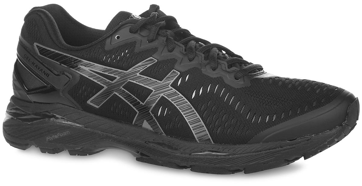 T646N-9099Стильные кроссовки Gel-Kayano 23 от Asics идеальная обувь для бега на длинные дистанции. Верх модели выполнен из текстиля и полимерных материалов. Внутренняя поверхность из текстиля не натирает. Стелька из материала ЭВА с текстильной поверхностью комфортна при движении. Классическая шнуровка надежно зафиксирует изделие на ноге. Благодаря превосходной амортизации FlyteFoam и усиленной волокном средней подошве обеспечивается восстановление формы модели после толчка и смягчается ударное воздействие, что гарантирует комфорт. Двухслойная упругая средняя подошва с технологией SuperSpEVA обеспечивает дополнительную амортизацию. Технология подошвы Dinamic DuoMax еще больше улучшает поддержку и стабильность, а также обладает сниженным весом и повышенным комфортом для ног спортсменов. Рифление на подошве обеспечивает отличное сцепление с любой поверхностью.