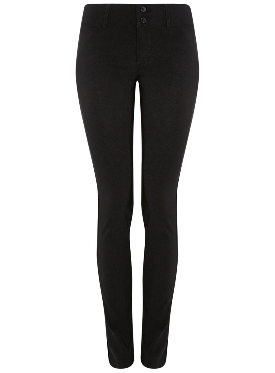 11700212/14007/2900NСтильные женские брюки oodji Ultra выполнены из качественного комбинированного материала. Модель со средней посадкой застегивается на молнию и две пуговицы в поясе, имеются шлевки для ремня. По бокам и сзади изделие дополнено имитацией прорезных карманов.