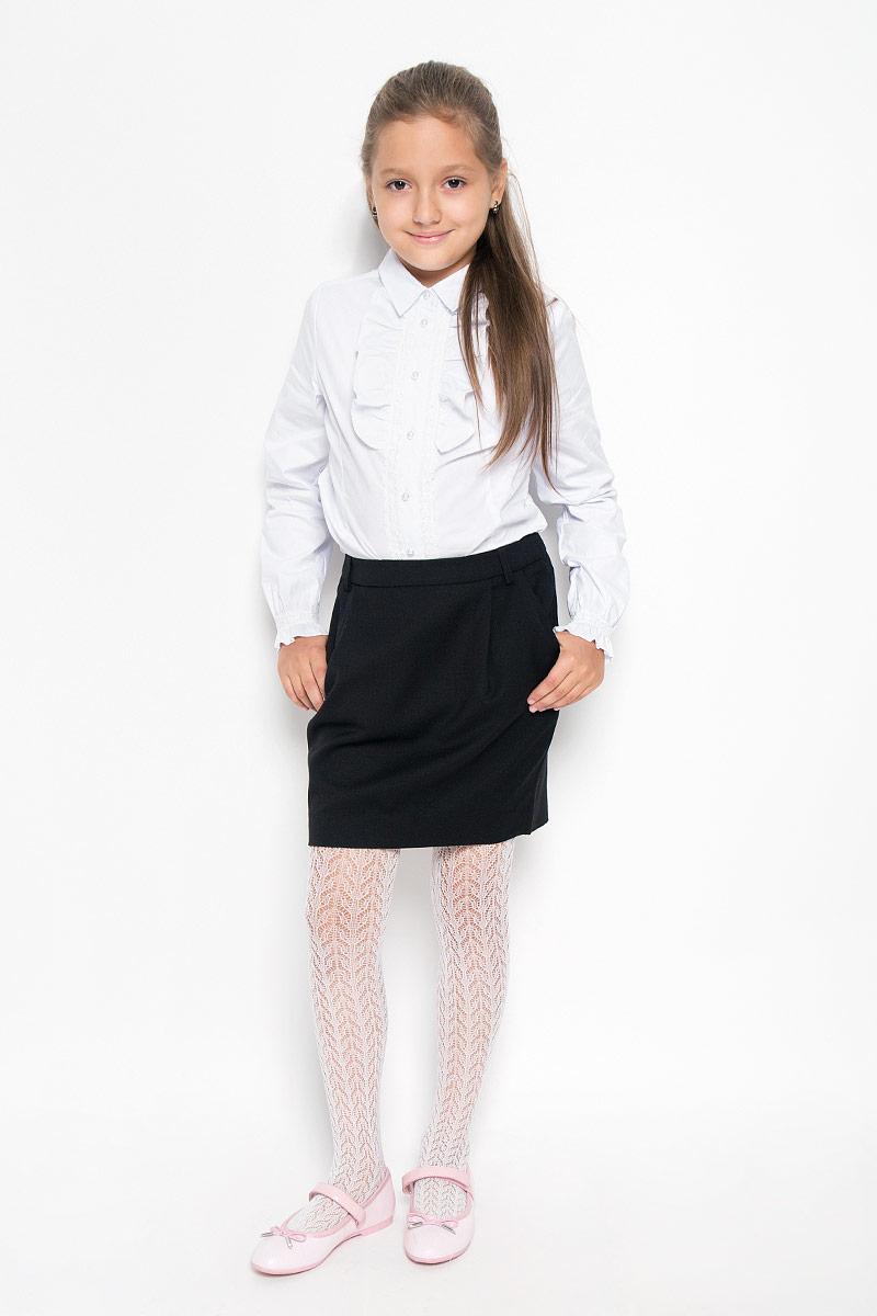 Юбка для девочки. 21502GSC610121502GSC6101Изящная юбка для девочки Gulliver идеально подойдет для школы и повседневной носки. Изготовленная из высококачественного материала, она необычайно мягкая и приятная на ощупь, не сковывает движения малышки и позволяет коже дышать, не раздражает даже самую нежную и чувствительную кожу ребенка, обеспечивая ему наибольший комфорт. Юбка выполнена в форме тюльпана, дополнена боковыми карманами и держателями для ремня. Размер модели в поясе регулируется вшитой резинкой. Такая юбка - незаменимая вещь для школьной формы, отлично сочетается с блузками и пиджаками.