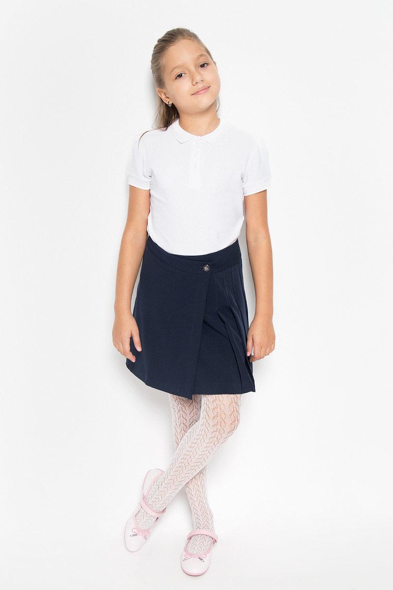 CWA26003A/CWA26003BСтильная юбка для девочки Nota Bene идеально подойдет для школы и повседневной носки. Изготовленная из высококачественного материала, она необычайно мягкая и приятная на ощупь, не сковывает движения и позволяет коже дышать, не раздражает даже самую нежную и чувствительную кожу ребенка, обеспечивая наибольший комфорт. Юбка с запахом застегивается на две пуговицы, вторая пуговица потайная. Размер модели в поясе регулируется вшитой резинкой. Классический фасон юбки дополнен складками с одной стороны. Такая юбка - незаменимая вещь для школьной формы, отлично сочетается с блузками и пиджаками.