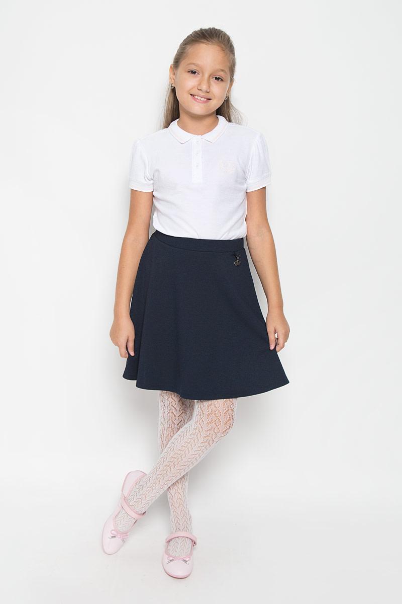 Юбка для девочки. SKk-618/021-6311SKk-618/021-6311Модная юбка Sela очарует вашу юную модницу с первого взгляда. Изделие, выполненное из вискозы и полиэстера с добавлением эластана, мягкое и тактильно приятное. Модель на талии имеет широкую трикотажную резинку. Спереди изделие украшено металлической подвеской в виде короны, оформленной стразом. В такой юбке ваша принцесса будет чувствовать себя уютно и комфортно, и всегда будет в центре внимания!