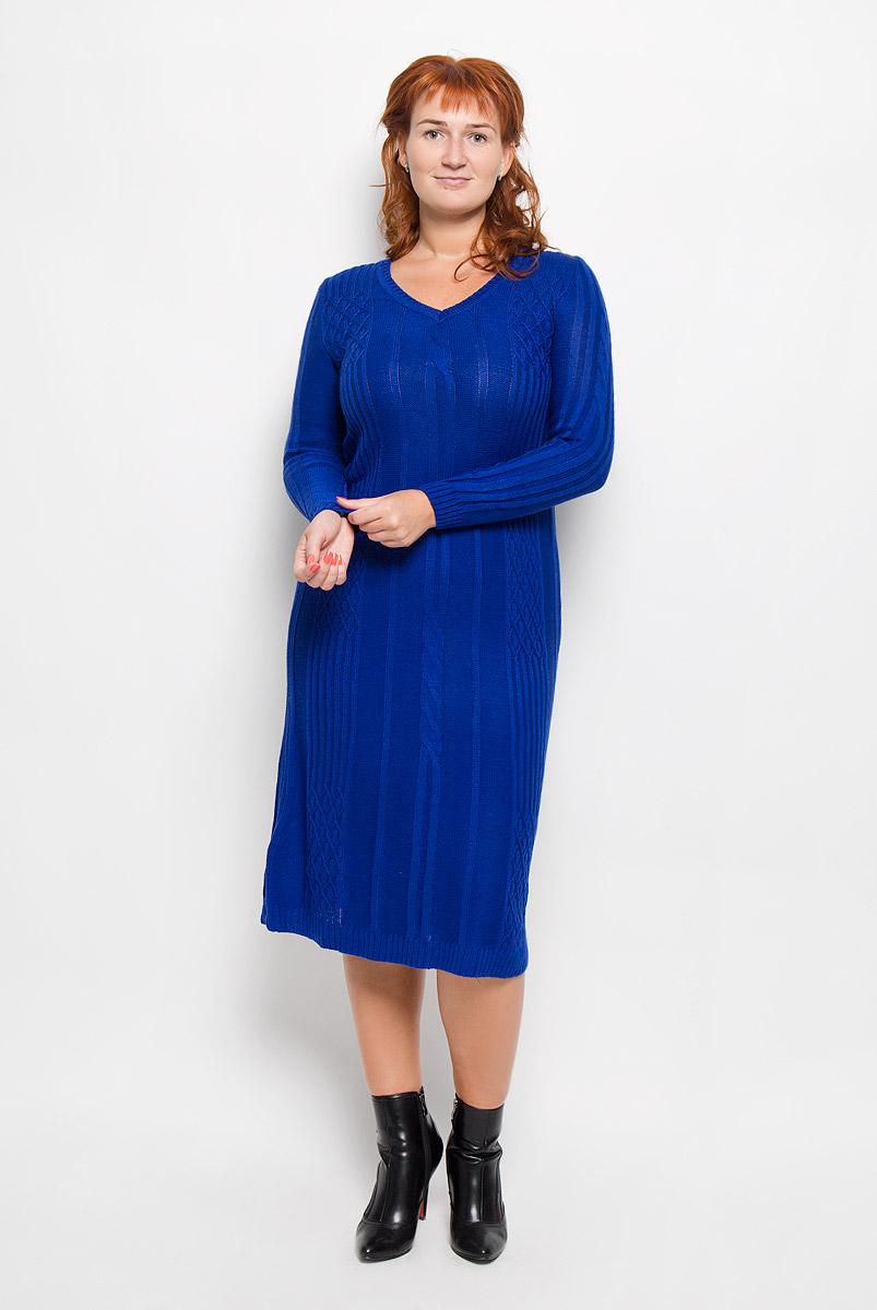 1178Элегантное платье Milana Style выполнено из высококачественной комбинированной пряжи. Такое платье обеспечит вам комфорт и удобство при носке и непременно вызовет восхищение у окружающих. Благодаря содержанию ПАН, платье обладает высокой износостойкостью и отлично сидит по фигуре. Платье-миди с длинными рукавами и V-образным вырезом горловины выгодно подчеркнет все достоинства вашей фигуры. Платье оформлено оригинальным узором. Изысканное платье создаст обворожительный и неповторимый образ. Это модное и комфортное платье станет превосходным дополнением к вашему гардеробу, оно подарит вам удобство и поможет подчеркнуть ваш вкус и неповторимый стиль.