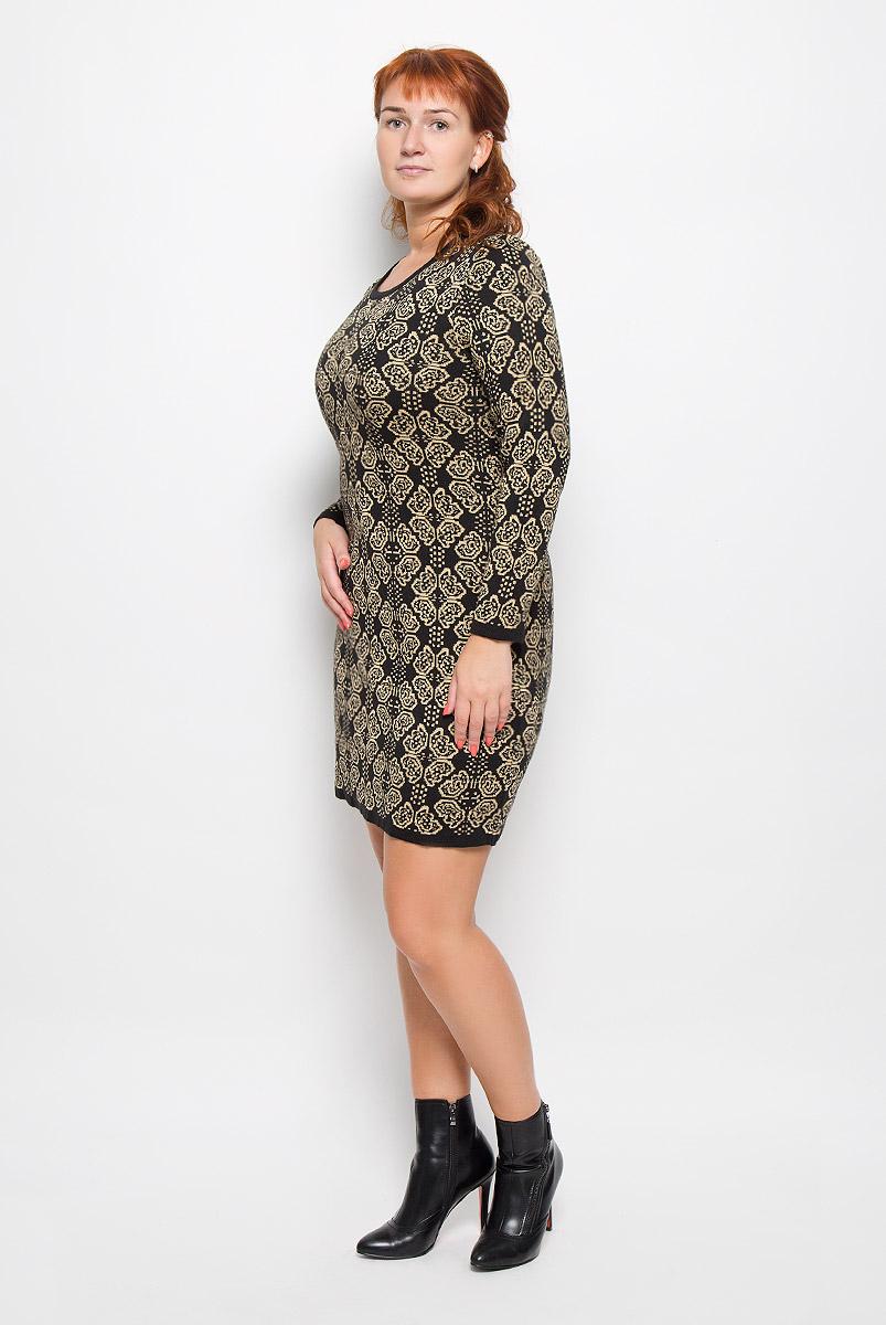 1356Элегантное платье Milana Style выполнено из высококачественной комбинированной пряжи. Такое платье обеспечит вам комфорт и удобство при носке и непременно вызовет восхищение у окружающих. Благодаря содержанию ПАН, платье обладает высокой износостойкостью и отлично сидит по фигуре. Платье-миди с длинными рукавами и круглым вырезом горловины выгодно подчеркнет все достоинства вашей фигуры. Платье оформлено оригинальным орнаментом. Изысканное платье-миди создаст обворожительный и неповторимый образ. Это модное и комфортное платье станет превосходным дополнением к вашему гардеробу, оно подарит вам удобство и поможет подчеркнуть ваш вкус и неповторимый стиль.
