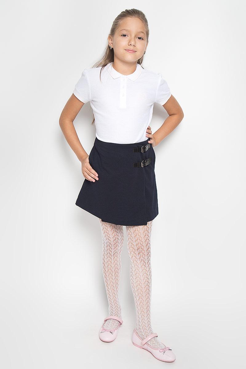 Юбка21502GSC5502Стильная юбка для девочки Gulliver идеально подойдет вашей маленькой принцессе. Изготовленная из полиэстера с добавлением вискозы и эластана, она необычайно мягкая и приятная на ощупь, не сковывает движения малышки и позволяет коже дышать, не раздражает даже самую нежную и чувствительную кожу ребенка, обеспечивая ему наибольший комфорт. Юбка с запахом Gulliver - модель в деловом стиле с оригинальными застежками, она имеет интересную конструктивную особенность - эта модель с запахом. С внутренней стороны пояс регулируется резинкой на пуговице. По бокам модель дополнена втачными карманами. Оригинальный современный дизайн и модная расцветка делают эту юбку модным и стильным предметом детского гардероба. В ней ваша малышка всегда будет в центре внимания!