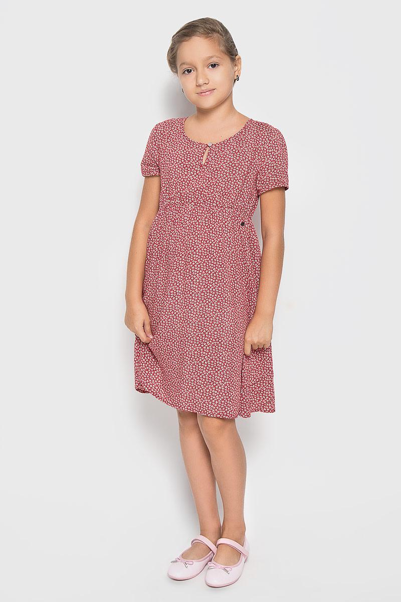 ПлатьеKS16-71011JПлатье для девочки Finn Flare Kids идеально подойдет вашей маленькой принцессе. Изготовленное из 100% вискозы, оно необычайно мягкое и приятное на ощупь, не сковывает движения малышки и позволяет коже дышать, не раздражает даже самую нежную и чувствительную кожу ребенка, обеспечивая ему наибольший комфорт. Платье с короткими рукавами и круглым вырезом горловины спереди застегивается на пуговку. По линии талии модель дополнена резинкой. В таком платьишке ваша малышка будет чувствовать себя уютно и комфортно и всегда будет в центре внимания!