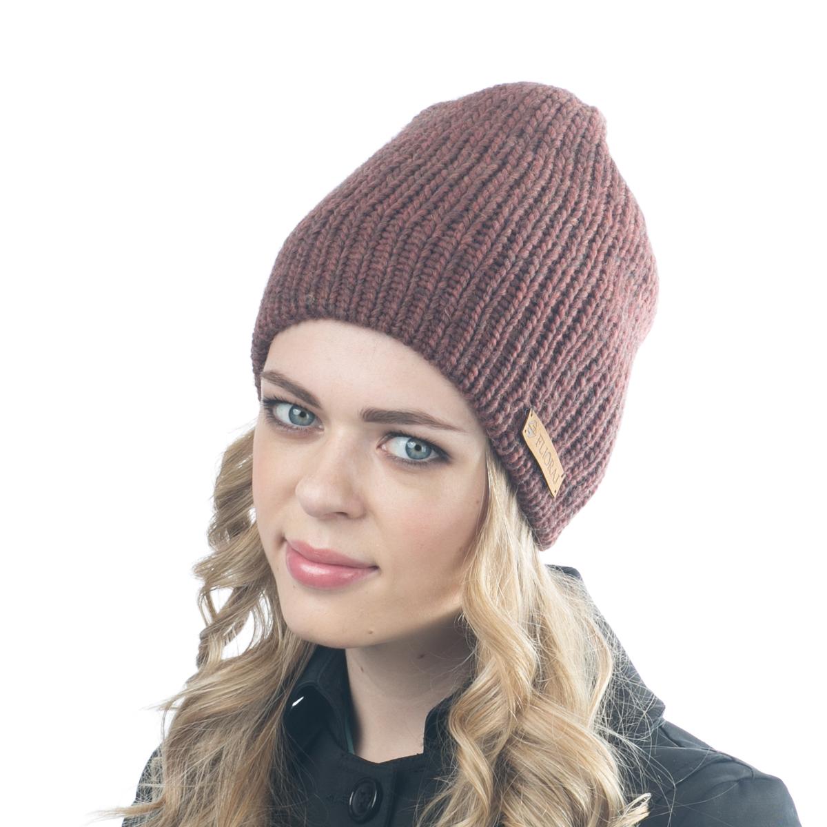 09FJТеплая двойная шапка Flioraj выполнена из объемной итальянской пряжи. Пряжа из овечьей шерсти и шерсти горной альпаки с добавлением полиакрила и вискозы делает изделие мягким, теплым, комфортным. Уважаемые клиенты! Размер, доступный для заказа, является обхватом головы.