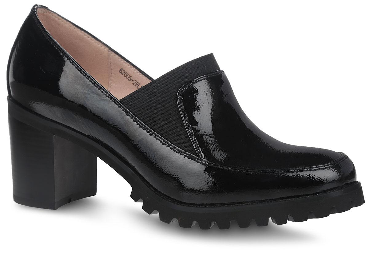 Туфли женские. 62005-2FLS62005-2FLSСтильные туфли от Sinta Gamma не оставят вас равнодушной благодаря своему дизайну и качеству. Модель изготовлена из натуральной лакированной кожи и оформлена прострочкой вдоль ранта. На ноге модель фиксируется с помощью эластичной резинки, расположенной на передней части изделия. Подкладка и стелька изготовлены из натуральной мягкой кожи, которая предотвратит натирание и обеспечит комфорт при движении. Удобный каблук и подошва, изготовленные из легкой и прочной резины, дополнены протекторами и рифлением, которые гарантируют отличное сцепление с различными поверхностями. Такие модные и удобные туфли подчеркнут неповторимый стиль и займут достойное место в вашем гардеробе.