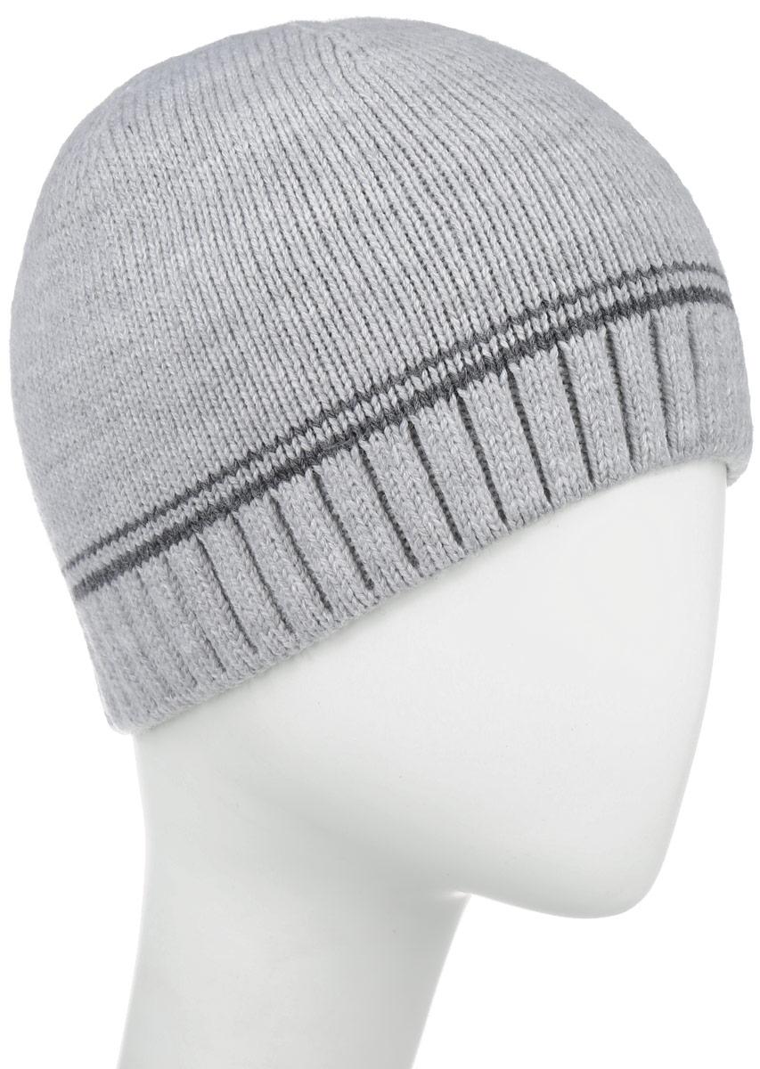 Шапка5-080Классическая мужская шапка Leighton отлично дополнит ваш образ в холодную погоду. Сочетание шерсти и акрила максимально сохраняет тепло и обеспечивает удобную посадку, невероятную легкость и мягкость. Шапка двойная без отворота по краю связана резинкой и оформлена контрастными полосками. Незаменимая вещь на прохладную погоду. Модель составит идеальный комплект с модной верхней одеждой, в ней вам будет уютно и тепло.