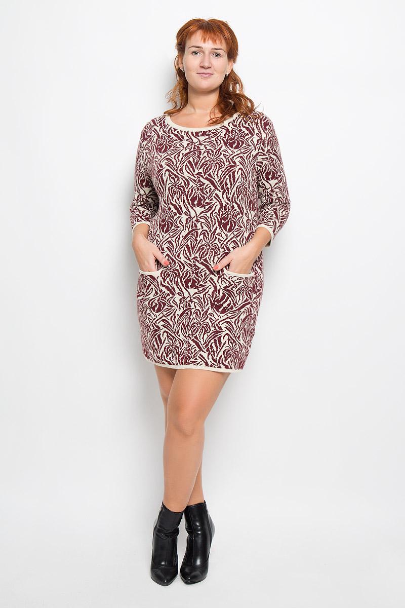 Платье938Элегантное платье Milana Style выполнено из высококачественной комбинированной пряжи из шерсти и акрила. Такое платье обеспечит вам комфорт и удобство при носке и непременно вызовет восхищение у окружающих. Благодаря содержанию акрила, платье обладает высокой износостойкостью и отлично сидит по фигуре. Модель средней длины с рукавами 7/8 и круглым вырезом горловины выгодно подчеркнет все достоинства вашей фигуры. Изделие дополнено двумя накладными карманами. Платье оформлено узором в виде контрастного растительного орнамента. Изысканное платье-миди создаст обворожительный и неповторимый образ. Это модное и комфортное платье станет превосходным дополнением к вашему гардеробу, оно подарит вам удобство и поможет подчеркнуть ваш вкус и неповторимый стиль.