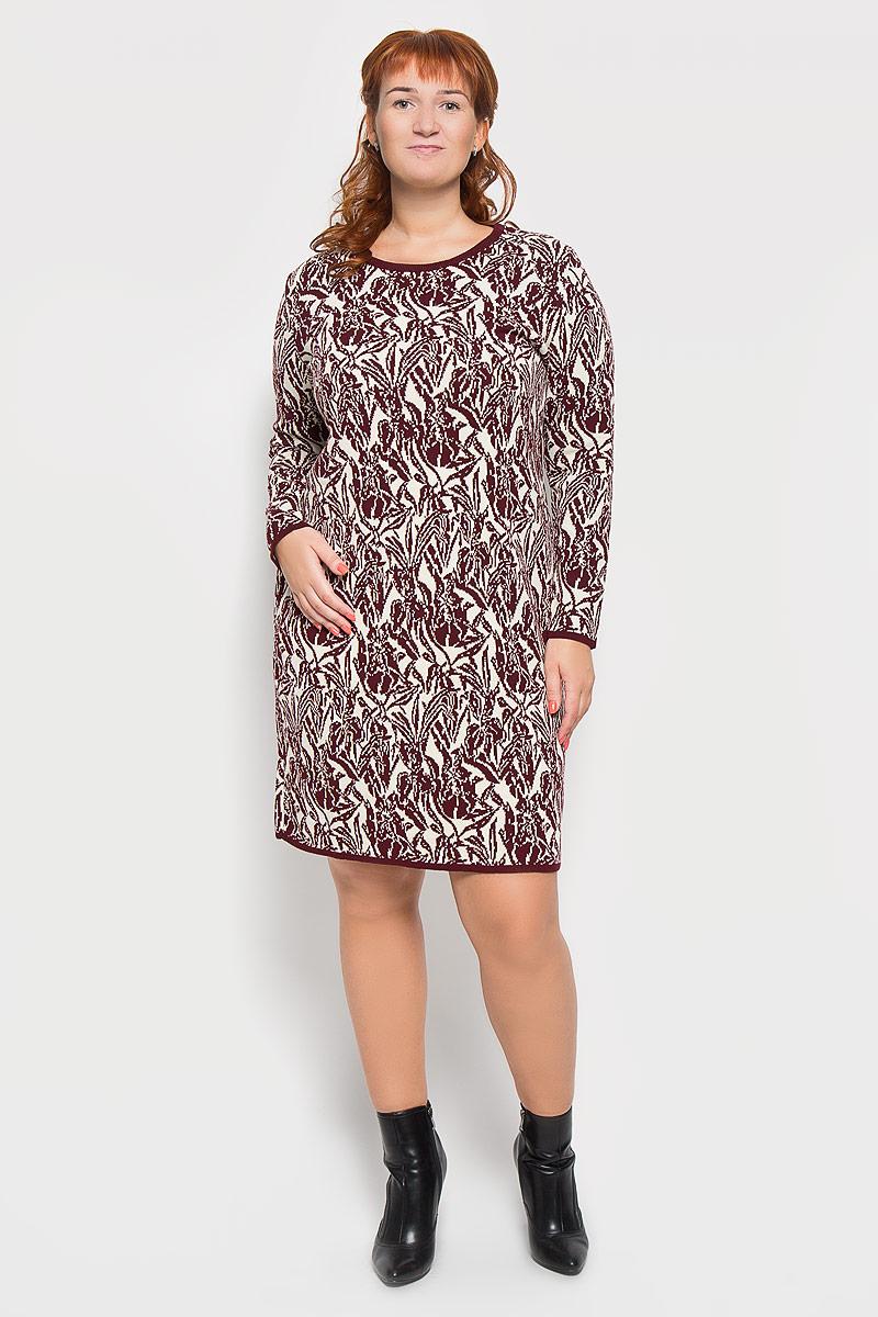 Платье937Яркое вязаное платье Milana Style поможет создать оригинальный женственный образ. Благодаря составу, в который входят шерсть и акрил, платье очень приятное на ощупь, не сковывает движений, обеспечивая комфорт. Модель с круглым вырезом горловины и длинными рукавами украшена оригинальным цветочным орнаментом. Вырез горловины, низ рукавов и низ изделия связаны резинкой. Такое платье станет модным и стильным дополнением к вашему гардеробу!