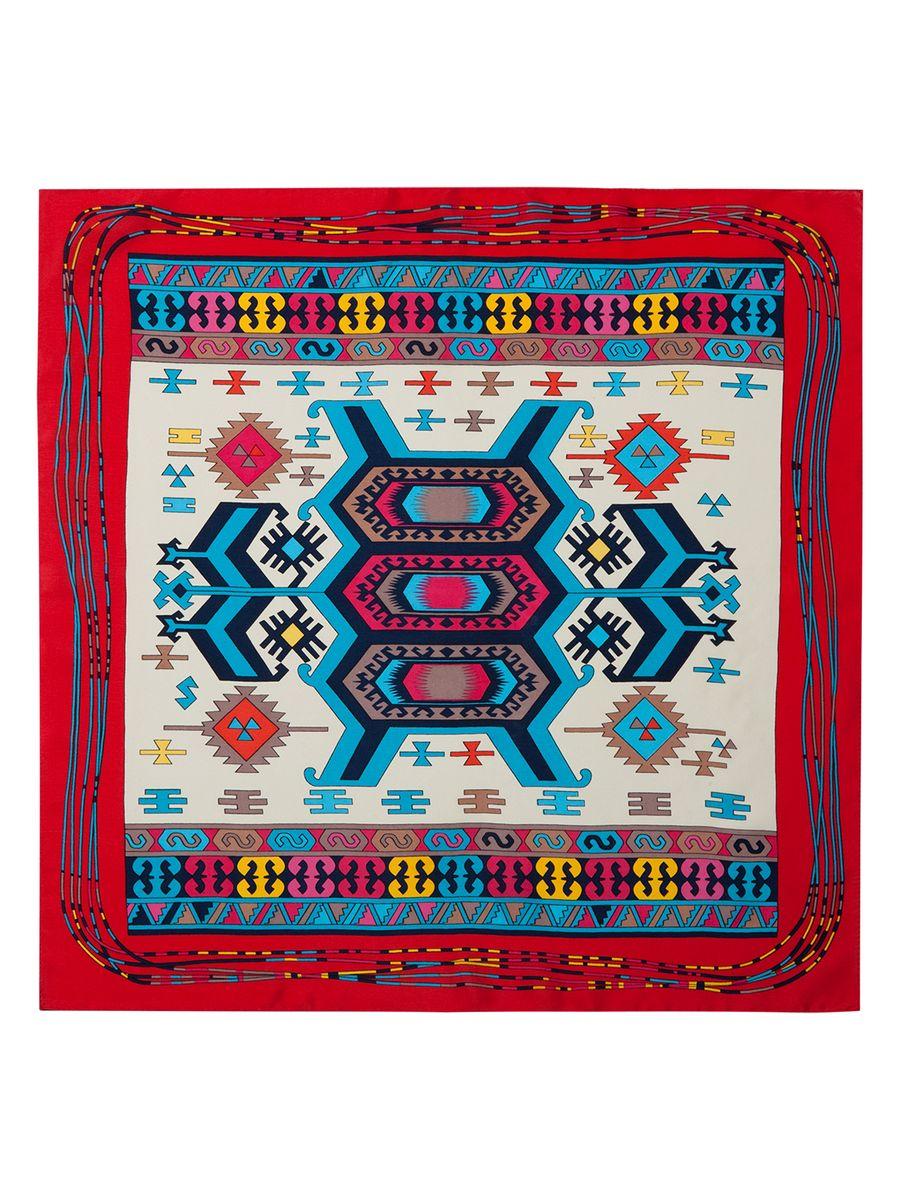 ПлатокSS03-7857Женский платок Eleganzza, изготовленный из шелка, мягкий и приятный на ощупь. Изделие оформлено оригинальным принтом.