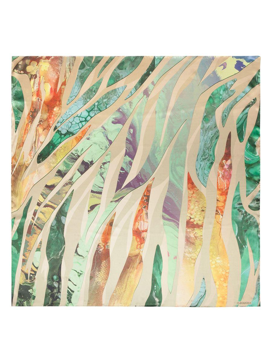 ПлатокKA03-8128Женский платок Eleganzza, изготовленный из шелка, мягкий и приятный на ощупь. Изделие оформлено оригинальным принтом.