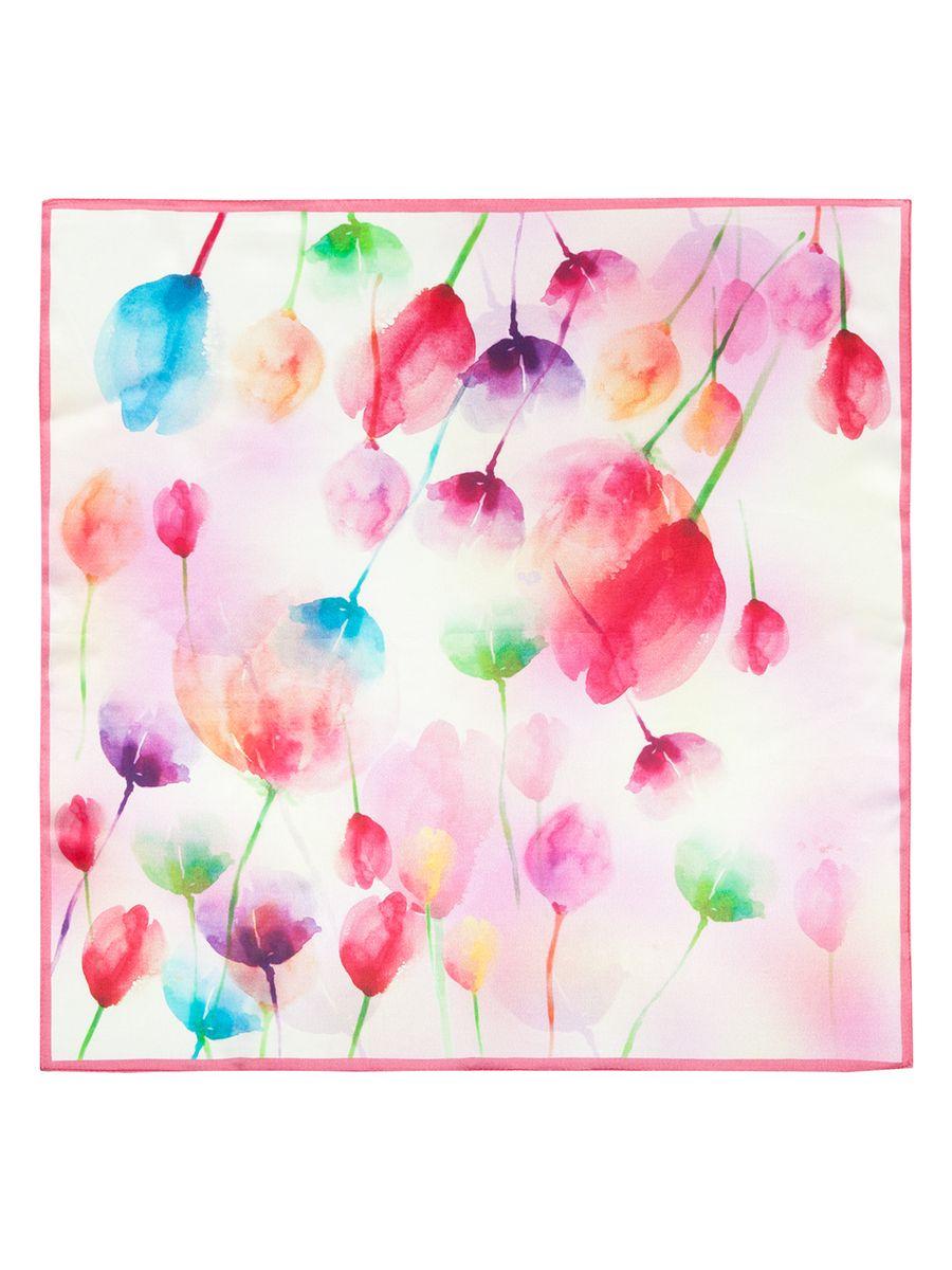 ПлатокSS03-7828Женский платок Eleganzza, изготовленный из шелка, мягкий и приятный на ощупь. Изделие оформлено цветочным принтом.