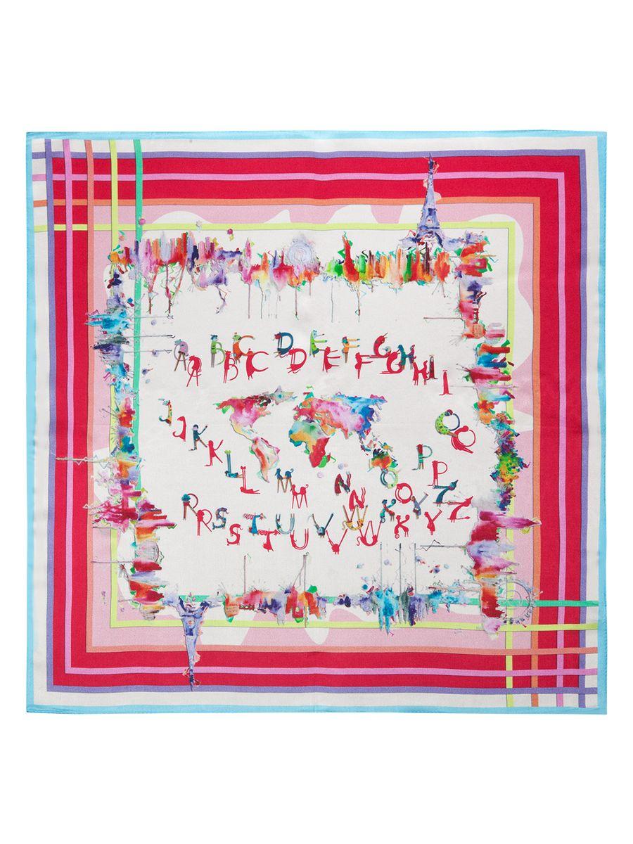 ПлатокSS03-7854Женский платок Eleganzza, изготовленный из шелка, мягкий и приятный на ощупь. Изделие оформлено оригинальным принтом.