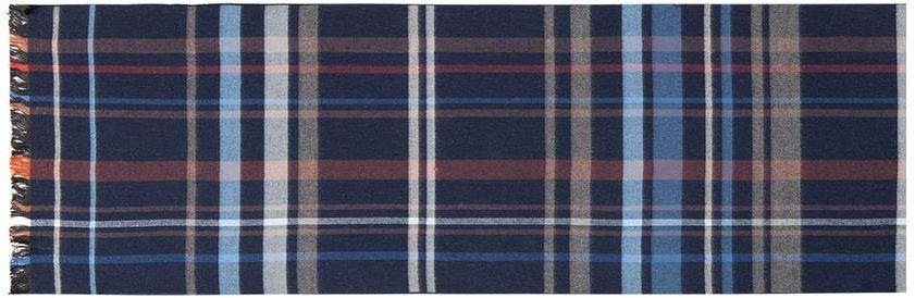 Шарф муж. LJG33-373LJG33-373Шарф торговой марки LABBRA. Состав: 50% шерсть + 50% вискоза. Тип подгибки: оверлок, реснички по короткой стороне. Размер: 30х180 см.