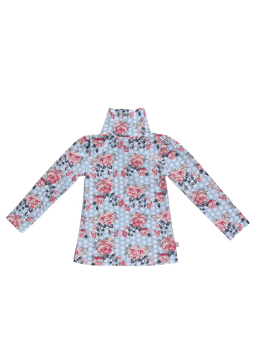 205493Водолазка для девочки Sweet Berry изготовлена из хлопка с добавлением эластана и оформлена цветочным принтом. Высокий воротник надежно защищает от ветра. Базовая модель позволяет создавать стильные образы.