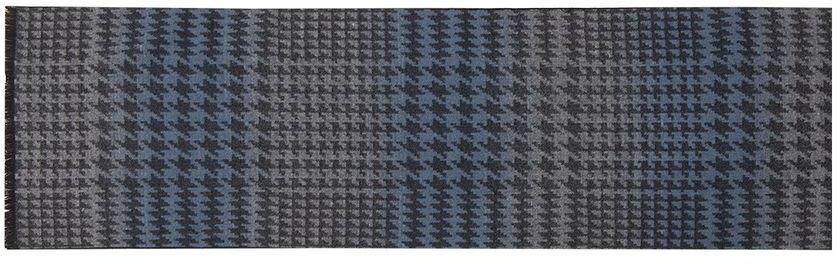 ШарфLJG33-358Мужской шарф Labbra, изготовленный из шерсти и вискозы, мягкий и приятный на ощупь. Изделие оформлено оригинальным принтом. По короткому краю модель оформлена бахромой.