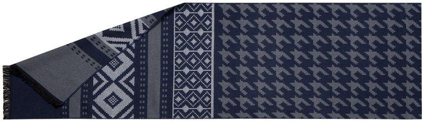 ШарфLG34-571Мужской шарф Labbra, изготовленный из шелка и вискозы, мягкий и приятный на ощупь. Изделие оформлено оригинальным принтом. По короткому краю модель оформлена бахромой.