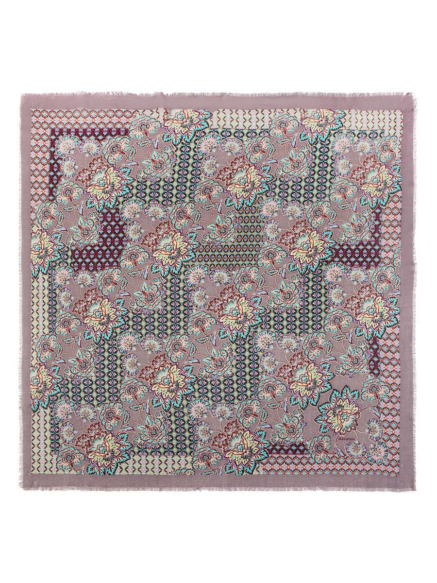 ПлатокBL41-2358Женский платок Eleganzza, изготовленный из натуральной шерсти, он мягкий и приятный на ощупь. Изделие оформлено цветочным принтом. По краям модель оформлена бахромой.