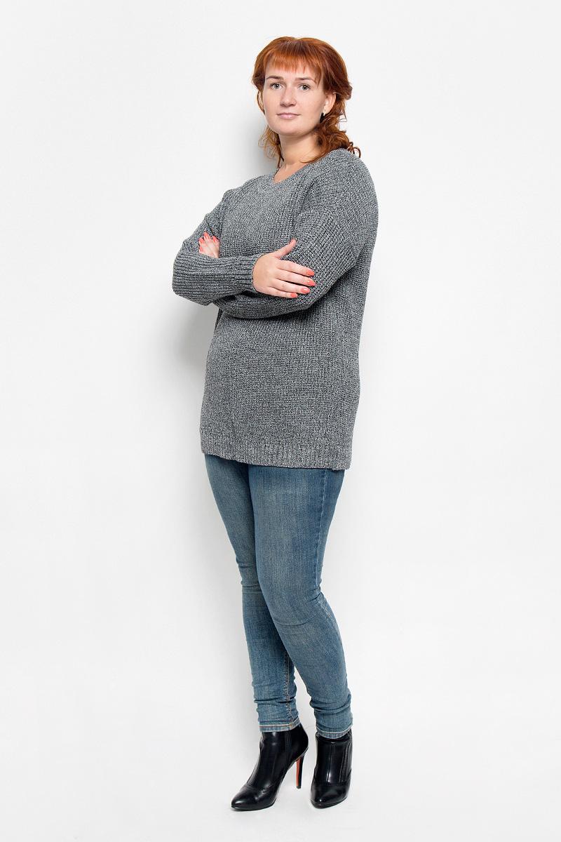 Джемпер1317Женский вязаный джемпер Milana Style, выполненный из ПАН-волокна с добавлением шерсти, станет отличным дополнением к вашему гардеробу. Благодаря своему составу, он мягкий, тактильно приятный, не сковывает движения и хорошо сохраняет тепло. Модель с длинными рукавами имеет круглый вырез горловины. Вырез горловины, манжеты и низ изделия связаны резинкой. Уютный джемпер подарит вам комфорт в течение всего дня!