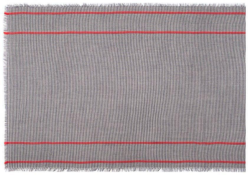 ПалантинLG52-Теплый палантин Labbra, изготовленный из шерсти и мохера, мягкий и приятный на ощупь. Изделие оформлено оригинальным принтом. По всем краям модель оформлена бахромой.