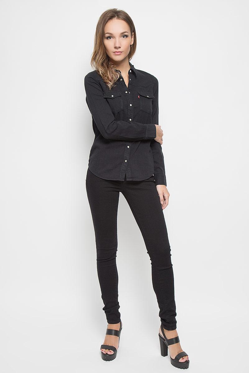 Джинсы1888100520Стильные женские джинсы Levis® 711 станут отличным дополнением к вашему гардеробу. Изготовленные из высококачественного комбинированного материала, они мягкие и приятные на ощупь, не сковывают движения и позволяют коже дышать. Джинсы-скинни застегиваются на металлическую пуговицу и имеют ширинку на застежке-молнии, а также шлевки для ремня. Модель имеет классический пятикарманный крой: спереди - два втачных кармана и один маленький накладной, а сзади - два накладных кармана. Современный дизайн и расцветка делают эти джинсы модным предметом одежды. Это идеальный вариант для тех, кто хочет заявить о себе и своей индивидуальности и отразить в имидже собственное мировоззрение.