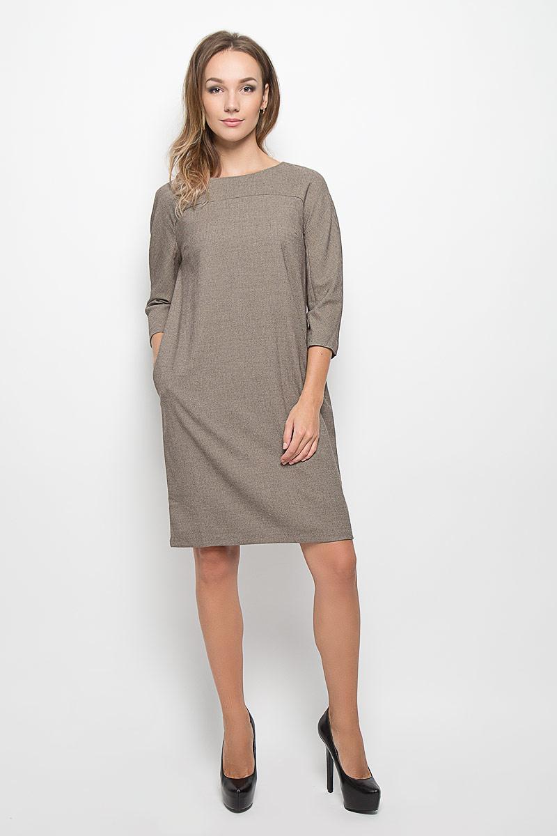 ПлатьеB456Стильное платье Baon, изготовленное из высококачественного комбинированного материала, поможет создать привлекательный образ. Материал изделия мягкий, тактильно приятный, позволяет коже дышать. Изделие дополнено тонкой подкладкой. Модель с круглым вырезом горловины и цельнокроеными рукавами длиной 3/4. По спинке изделие закрывается на потайную застежку-молнию. Платье-миди дополнено втачными карманами в боковых швах. Такое платье будет дарить вам комфорт в течение всего дня, и послужит замечательным дополнением к вашему гардеробу.