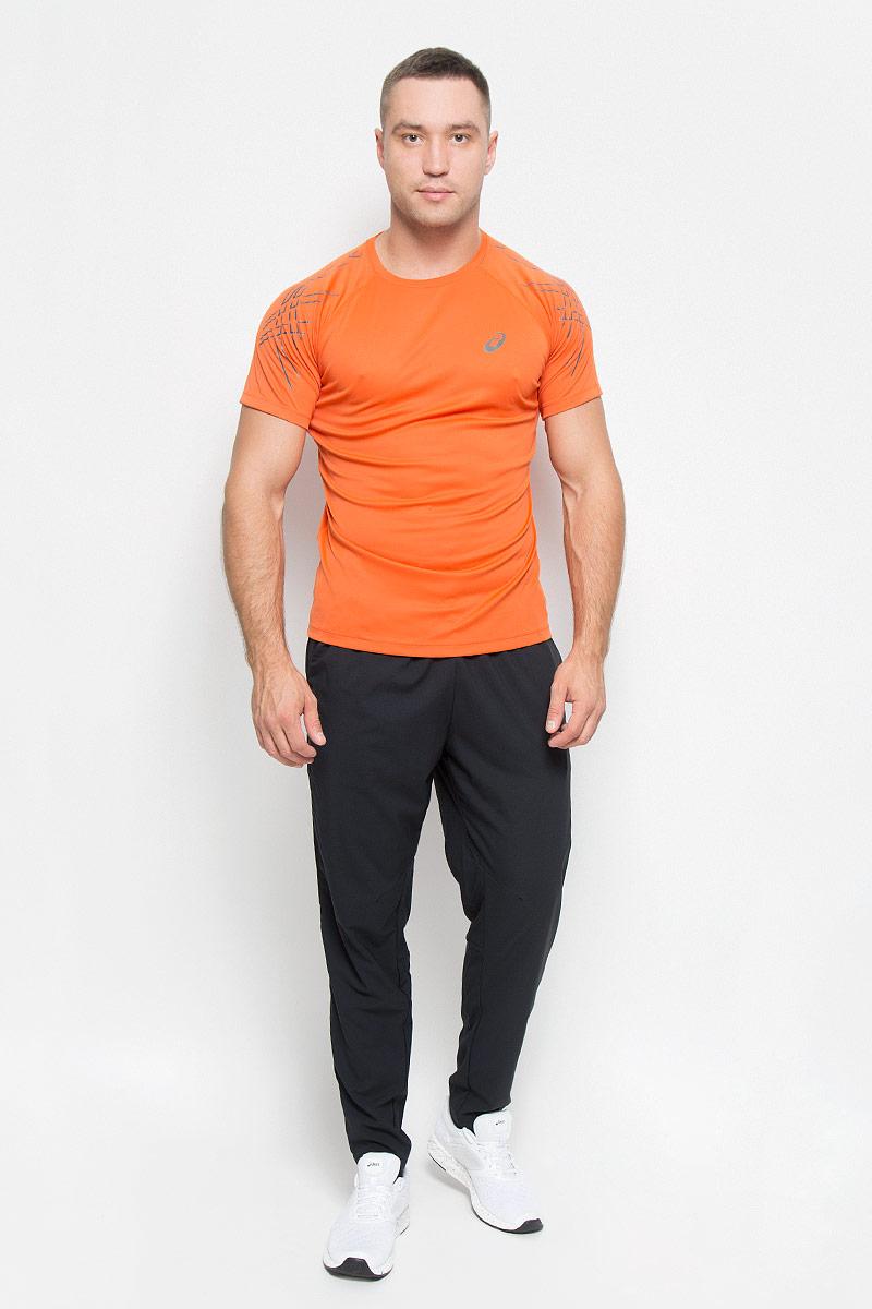 Футболка126236-6002Стильная мужская футболка для бега Asics  Ss Asics Stripe Top, выполненная из переработанного полиэстера, обладает высокой теплопроводностью, воздухопроницаемостью и гигроскопичностью и великолепно отводит влагу, оставляя тело сухим даже во время интенсивных тренировок. Такая футболка превосходно подойдет для занятий спортом и активного отдыха. Модель с короткими рукавами-реглан и круглым вырезом горловины - идеальный вариант для занятий спортом. Рукава-реглан обеспечат свободу движений. Футболка оформлена светоотражающим логотипом спереди и светоотражающими элементами на рукавах. Такая модель подарит вам комфорт в течение всего дня и послужит замечательным дополнением к вашему гардеробу.