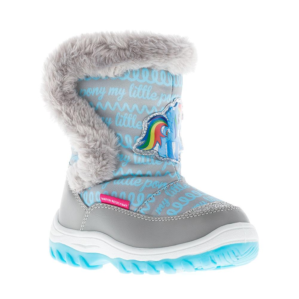 6444AДутики для девочки My Little Pony от Kakadu непременно понравится как юным модницам, так и их заботливым родителям. Модель, выполненная из текстиля и синтетической кожи по технологии Water-resistant, гарантирует непромокаемость. Укрепленные носок и пятка обладают необходимой степенью жесткости для поддержания формы на протяжении всего периода использования. Подкладка из шерсти обеспечивает ногам тепло и сухость при любых климатических условиях. Съемную стельку всегда можно вынуть или заменить. Подошва из ПВХ отличается хорошей сцепляемостью с поверхностью и высокой пружинистостью. Благодаря этим качествам дети могут совершать длительные прогулки без чувства усталости в ногах. Детские дутики оформлены ярким изображением лошадки. Застежка-липучка надежно фиксирует изделие на ноге.
