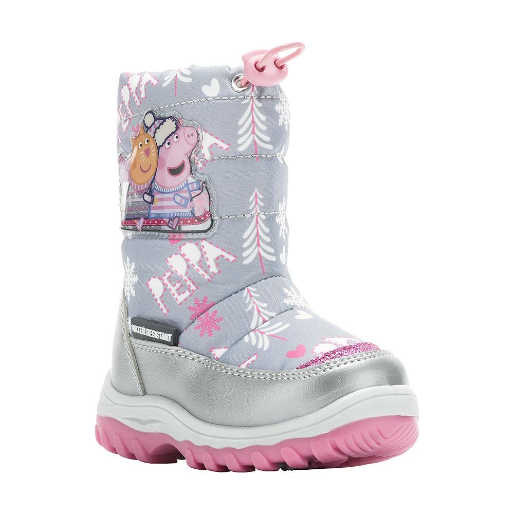 6446AДетские зимние дутики Peppa Pig от Kakadu придутся по душе вашей девочке. Обувь отличается от аналогов модным дизайном и высокой эргономичностью. Модель, выполненная из текстиля по технологии Water-resistant, гарантирует непромокаемость. Укрепленные носок и пятка обладают необходимой степенью жесткости для поддержания формы на протяжении всего периода использования. Подкладка из натуральной шерсти обеспечивает ногам тепло и сухость при любых климатических условиях. Съемную стельку ботинок всегда можно вынуть или заменить. Подошва из ПВХ отличается хорошей сцепляемостью с поверхностью и высокой пружинистостью. Благодаря этим качествам дети могут совершать длительные прогулки без чувства усталости в ногах. Детские зимние ботинки оформлены ярким рисунком свинки Пеппы. Застежка-молния надежно фиксирует изделие на ноге. Кулиска со стоппером на голенище позволяет легко подобрать оптимальный объем.