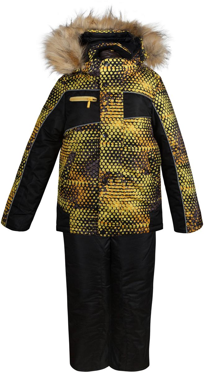 Комплект одежды для мальчика Оскар. 1КС16111КС1611Супер теплый и практичный зимний костюм от OLDOS. Покрытие Teflon защищает от воды и грязи, увеличивает износостойкость и упрощает уход за изделием. Утеплитель Hollofan 250/200 г/м2 гипоаллергенен, отлично удерживает тепло. Подкладка: хлопок (грудка и спинка), гладкий полиэстер в рукавах и брючинах для легкости одевания. Съемная подстежка на молнии из 60% овечьей шерсти. Температура -35...0 С. Куртка имеет весь необходимый функционал для комфортной носки: ветрозащитные планки, саморегулирующиеся трикотажные манжеты внутри рукавов, регулируемую утяжку по низу куртки, карманы, воротник-стойку с приятной к лицу трикотажной вставкой, съемный капюшон с регулируемым объемом и съемной опушкой из искусственного меха. Полукомбинезон также очень функционален: широкие эластичные регулируемые лямки, застежка-молния, вшита резинка по линии талии, есть снего-ветрозащитные муфты, усиления внизу брючин в местах сильного износа, так же есть карманы. Костюм оснащен светоотражающими элементами.