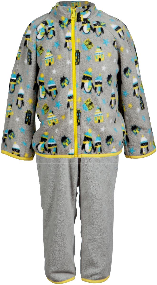 Комплект одежды4КС1613Удивительно мягкий и теплый костюм из флиса от OLDOS ACTIVE. Костюм состоит из кофты на молнии с набивным рисунком и гладкокрашенных брюк. Воротник-стоечка кофты хорошо прилегает и закрывает шею ребенка от ветра. Изнутри шов воротника укреплен х/б лентой, что предотвращает растягивание. В пояс брюк вшита резинка, а так же есть возможность отрегулировать посадку по талии с помощью внутреннего шнурка. Низ рукавов, кофты и брючин окантованы резинкой. В таком костюме будет легко и тепло как на улице прохладным летом, так и дома!