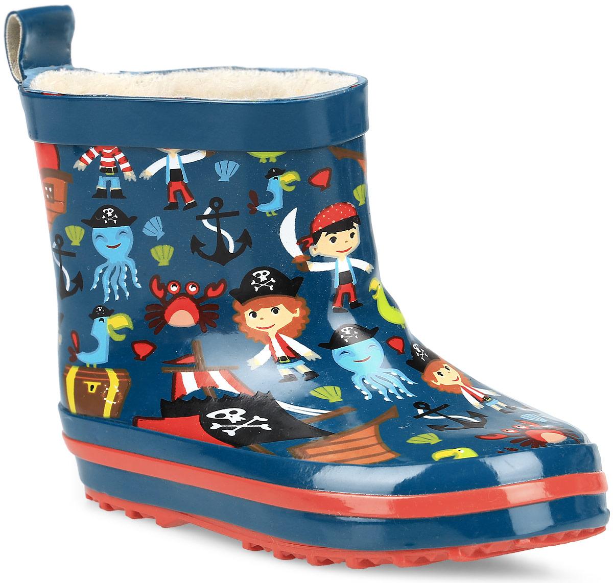 200278Стильные резиновые сапоги от фирмы Mursu идеально подходят для долгих прогулок в ненастную погоду. Сапоги выполнены из качественной резины и оформлены оригинальным принтом. Ярлычок на заднике облегчит надевание обуви. Подкладка и стелька изготовлены из шерсти, которая сохранит тепло и обеспечит полный уют и комфорт при носке. Рельефная резиновая подошва устойчива к истиранию и гарантирует отличное сцепление с любой поверхностью. Такие оригинальные и практичные резиновые сапоги займут достойное место в гардеробе вашего ребенка.