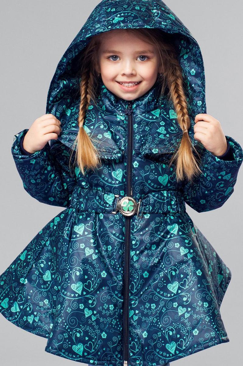 Полупальто для девочки Анастасия. 2ПЛ16022ПЛ1602Элегантное демисезонное полупальто от OLDOS для маленьких модниц! Водо- и ветронепроницаемое благодаря специальным пропиткам. Утеплитель плотностью 150 г/м2 позволяет носить пальто в температурном диапазоне от -5 С до +10 С. Подскладка хлопковая в области грудки и спинки, в рукавах же гладкий полиэстер для легкости одевания. Пальто оснащено всем необходимым, чтобы защитить ребенка от осенней непогоды: ветрозащитная планка с защитой подбородка, воротник-стойка, ветрозащитная юбка внутри и трикотажная манжета с саморегулируемой муфтой. Пояс с металлической пряжкой и шикарный широкий съемный капюшон дополняют образ и создают дополнительную защиту от капризов погоды. В полупальто так же есть карманы и светоотражающие элементы.