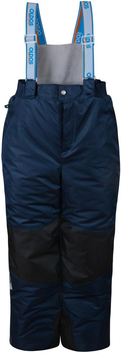 Брюки утепленные16/OA-1PT438Легкие, удобные, практичные зимние брюки от OLDOS ACTIVE, без которых зимой не обойтись! Внешнее покрытие Teflon: защита от воды и грязи, дополнительная износостойкость, за изделием легко ухаживать (часто достаточно просто протереть мокрой тряпочкой). Мембрана 5000/5000 обеспечивает водонепроницаемость и отвод влаги. Утеплитель HOLLOFAN PRO 150 г/м2 эффективно сохраняет тепло, гипоаллергенен, не впитывает запахи и влагу, легкий и простой в уходе. Температурный режим -30...+5 С. Скользящая подкладка позволит с легкостью одеть брюки на любое термобелье или колготы. Пояс с резиновой вставкой для комфортного ношения. У брюк есть спинка с флисовой подкладкой для дополнительной защиты от холода. Широкие эластичные подтяжки регулируются по длине. При необходимости лямки со спинкой можно отстегнуть (крепление на молнии и липучках)! Муфта с антискользящей резинкой защитит от ветра и снега, а так же Вы будете уверены, что брючины не задерутся во время активных игр. Есть 2 кармана на молнии.