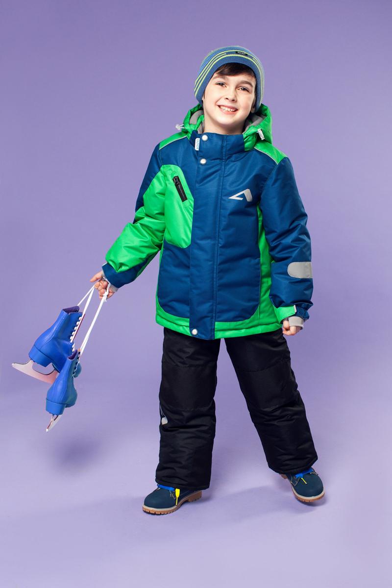 Комплект одежды для мальчика Ларс. 16/OA-1SU43116/OA-1SU431Долговечный и технологичный костюм из зимней коллекции OLDOS ACTIVE. Покрытие Teflon: защита от воды и грязи, износостойкость, за изделием легко ухаживать. Мембрана 5000/5000 обеспечивает водонепроницаемость, одежда дышит. Гипоаллергенный утеплитель HOLLOFAN PRO 200/150 г/м2 - тоньше обычного, зато эффективнее удерживает тепло. Подклад флисовый (в рукавах и п/комбинезоне гладкий п/э для легкости одевания). Температурный режим -30С...+5С. Костюм прекрасно защитит от ветра и снега благодаря воротнику-стойке, ветрозащитным планкам, снего-ветрозащитным муфтам и юбке; манжета регулируется по ширине. Дополнительно в рукавах есть эластичные манжеты с отверстием для большого пальца! Спинка удлиненная, низ куртки регулируется по ширине. Капюшон съемный с регулировкой объема. Карманы на молнии, есть внутренний кармашек на липучке. Полукомбинезон с застежкой на молнии, резинкой по талии, широкими эластичными регулируемыми подтяжками, карманами, усилениями в местах износа. Светоотражающие...