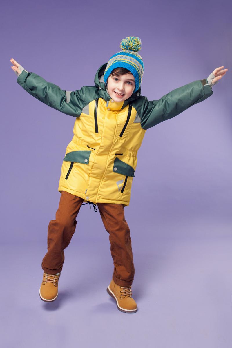 Куртка для мальчика Рэй. 16/OA-1JK418-116/OA-1JK418-1Потрясающе практичная и технологичная удлиненная парка из зимней коллекции OLDOS ACTIVE. Покрытие Teflon: защита от воды и грязи, износостойкость, за изделием легко ухаживать. Мембрана 5000/5000 обеспечивает водонепроницаемость, отвод влаги и комфортную атмосферу внутри костюма. Гипоаллергенный утеплитель HOLLOFAN PRO 200 г/м2 - тоньше обычного, зато эффективнee удерживает тепло и дарит свободу движения. Подклад флисовый (в рукавах гладкий п/э для легкости одевания). Температурный режим (-30 С...+5 С). Парка прекрасно защитит от ветра и снега благодаря воротнику-стойке, ветрозащитным планкам, снего-ветрозащитной юбке; манжета регулируется по ширине липучкой. Дополнительно в рукавах есть эластичные манжеты с отверстием для большого пальца! Спинка удлиненная, низ куртки и талия регулируются по ширине. Капюшон съемный с регулировкой объема. Карманы на молнии, есть внутренний кармашек на липучке. Светоотражающие элементы.