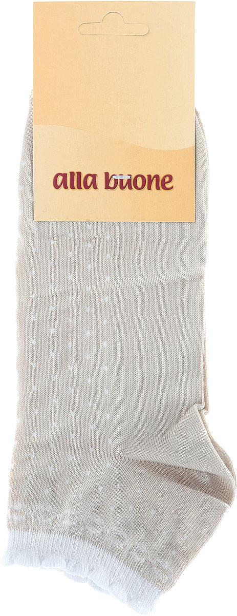 Носки016CDУдобные носки Alla Buone, изготовленные из высококачественного бамбукового волокна, очень мягкие и приятные на ощупь, позволяют коже дышать. Эластичная резинка плотно облегает ногу, не сдавливая ее, обеспечивая комфорт и удобство. Носки с укороченным паголенком оформлены узором. Практичные и комфортные носки великолепно подойдут к любой вашей обуви.