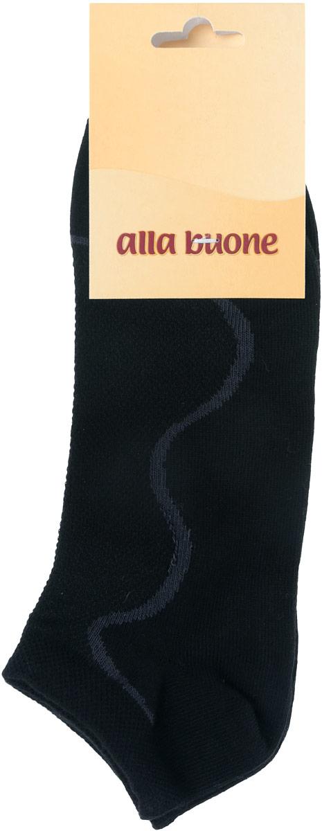 Носки035CDУдобные носки Alla Buone, изготовленные из высококачественного комбинированного материала, очень мягкие и приятные на ощупь, позволяют коже дышать. Эластичная резинка плотно облегает ногу, не сдавливая ее, обеспечивая комфорт и удобство. Носки с контрастным узором с укороченным паголенком. Практичные и комфортные носки великолепно подойдут к любой вашей обуви.