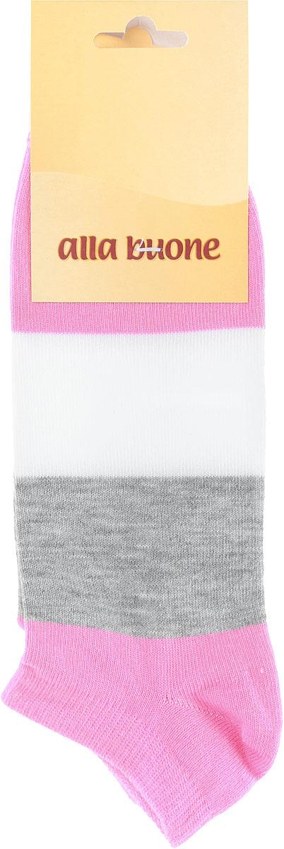 Носки жен. 033CD033CDХлопковые укороченные носки в крупную полоску